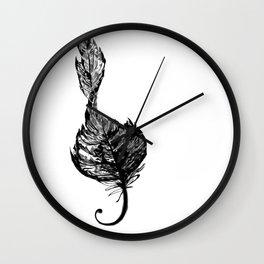 Treble Feather Wall Clock