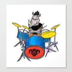 Rhino Punk Canvas Print