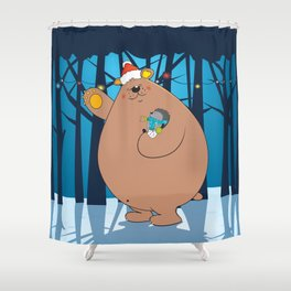 We wish you a Merry Christmas ! Shower Curtain