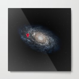 We Are Here! Galactic Location Metal Print