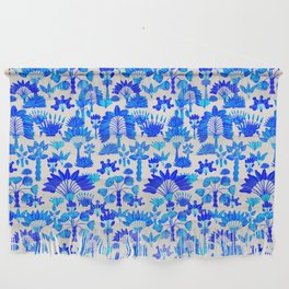 Exotic Garden Blue Wall Hanging