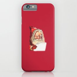 SANTA CLAUS READING A LETTER iPhone Case
