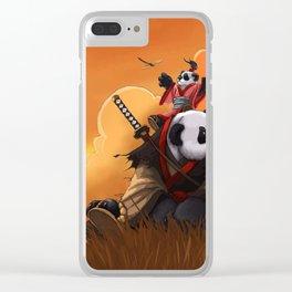 panda fighters Clear iPhone Case