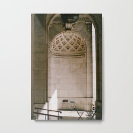 Alcove New York Public Library Metal Print