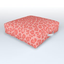 Leopard - Living Coral Outdoor Floor Cushion
