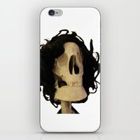 skeleton iPhone & iPod Skins featuring skeleton by Francesco Mestria