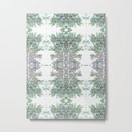 Tree Patterns Nuetral Colors Metal Print