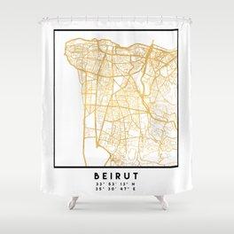 BEIRUT LEBANON CITY STREET MAP ART Shower Curtain