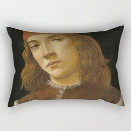 Sandro Botticelli - Portrait of a Young Man Rectangular Pillow