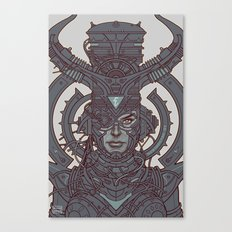 Electric Queen :: Line Art Canvas Print