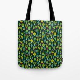 Dark cactus pattern Tote Bag