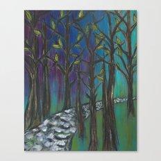 Illuminated Path Canvas Print