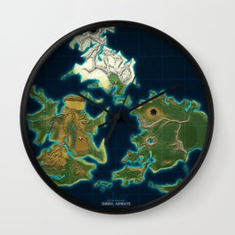 Final Fantasy VII - Shinra Airways World Map Wall Clock