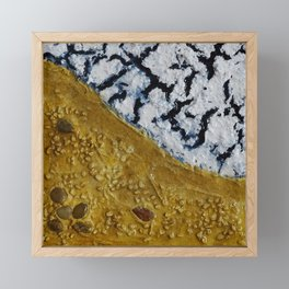 Baltic Sea 2 / Mixed Media Painting Framed Mini Art Print