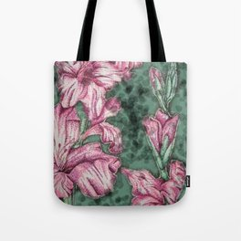 Pink Gladiolas Tote Bag