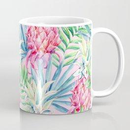 Pineapple & watercolor leaves Coffee Mug