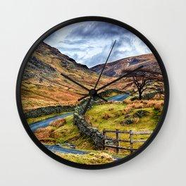 The Winding Way Wall Clock