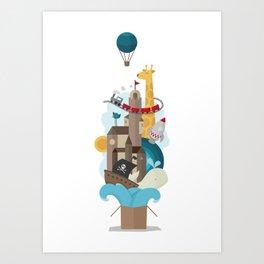 Tales in a box Art Print