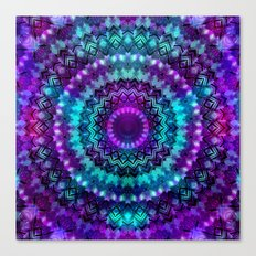 Celestial Midnight Mandala Canvas Print