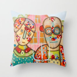 The American Gothic Throw Pillow