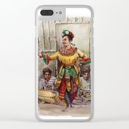 Tari topeng Betawi Clear iPhone Case