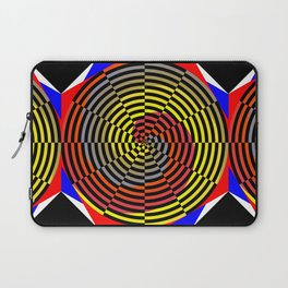 Red Yellow Blue Spiral Laptop Sleeve