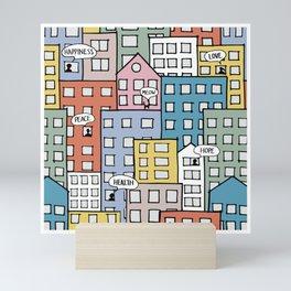 Wishes in the city Mini Art Print