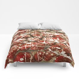Red Paint Abstract Drip Stones AKA Pollock Comforters