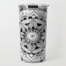 Mandala Constrast Travel Mug