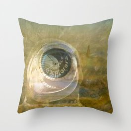 TMT / The Biggest Spatial Eye / EXPLORERS ONLY Throw Pillow