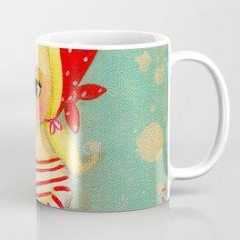 Babushka with pug dog Coffee Mug