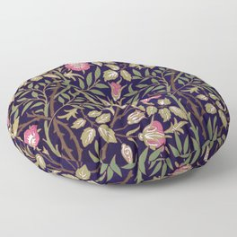 William Morris Sweet Briar Floral Art Nouveau Floor Pillow