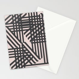 Abstract lines in pink Stationery Cards