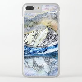 The Maroon Bells Meets  the Sky Clear iPhone Case