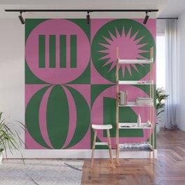 abstract geometric mosaic pattern illustration Wall Mural
