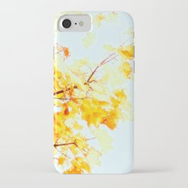 Yellow Maple leaves, Autumn Unfolds iPhone Case