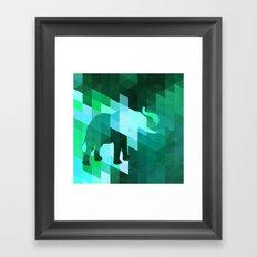 Emerald Elephant Framed Art Print