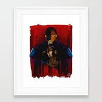 deathstroke Framed Art Prints featuring Terra-forming With Deathstroke by Joshua M. Rhodes III