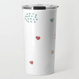Cute Hearts Travel Mug