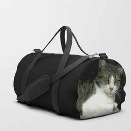 through the looking glass - cat meditating at the window Duffle Bag