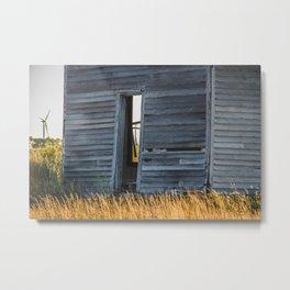 Falling Farm House, North Dakota 5 Metal Print