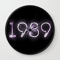 1989 Wall Clocks featuring 1989 (INSPIRED) by savingmypromises
