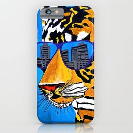Tiger and Shades iPhone Case