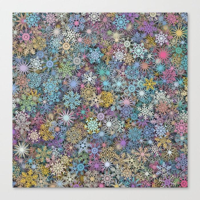 Snowflakes multicolor Canvas Print
