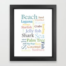 Beach Theme Framed Art Print