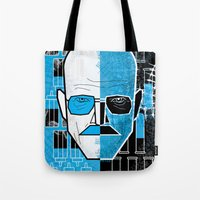 walter white Tote Bags featuring Walter White by Micah Lanier