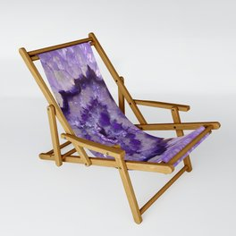 Purple Crystal Sling Chair