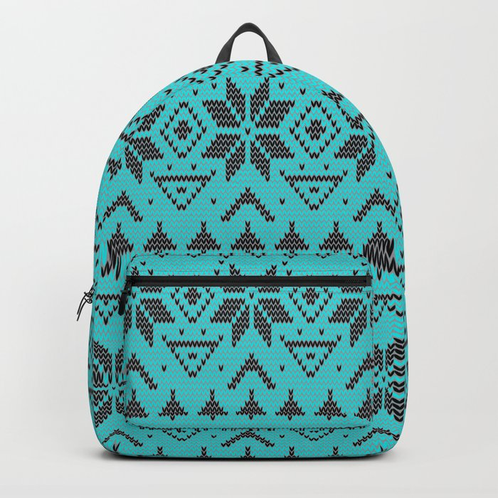 Knitted Christmas pattern retro 4 Backpack