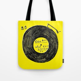 you are what you listen to FULL YELLOW Tote Bag