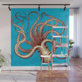 Vintage Octopus Music Sheet Wall Mural